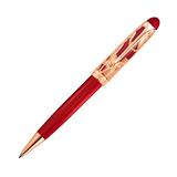 Ручка шариковая Aurora ROMA корпус красный оклад серебро 925пр позолота (AU-830-VR)