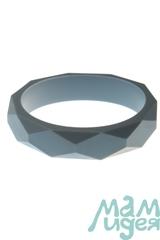 Молочный браслет из пищевого силикона МАМидея серый
