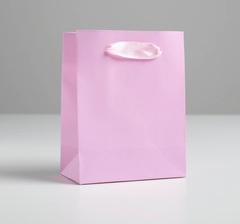 Пакет подарочный «Розовый», 11,5 × 14.5 × 6 см, 1 шт.