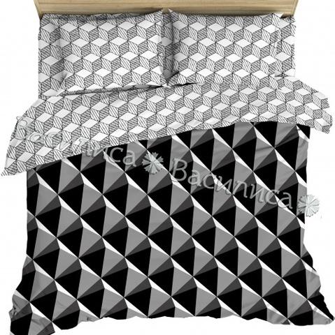 Постельное белье бязь Евро  Василиса 70х70 рис 7650/1
