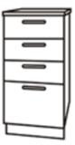 Чили ШНЯ 300 шкаф нижний с 4мя ящиками