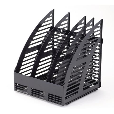 Вертикальный накопитель Attache пластиковый черный ширина 240 мм 4 отделения
