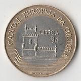 K12209 1994 Португалия 200 эскудо Лиссабон – культурная столица Европы XF биметалл