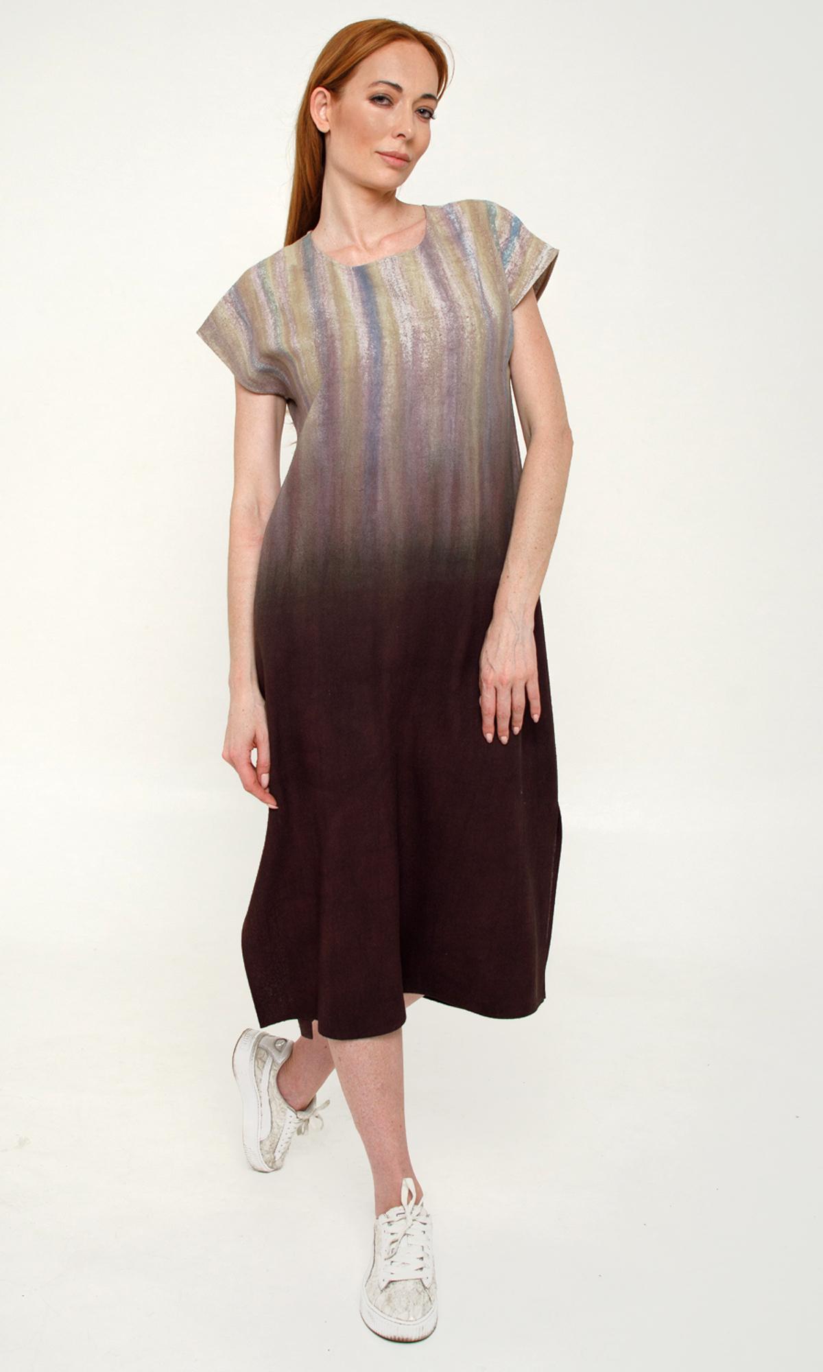 Шелковое платье Шоколад