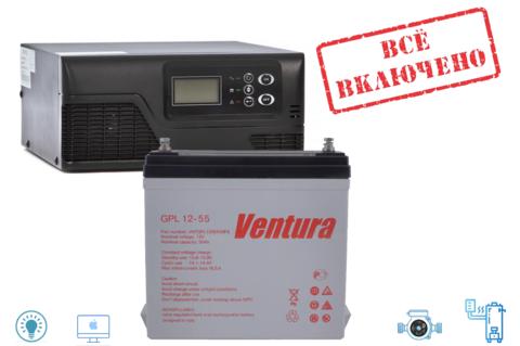 Комплект ИБП Ecovolt SMART 412+GPL 12-55