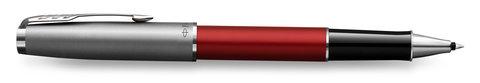 Подарочный набор с гравировкой: ручка роллер Parker Sonnet Entry Point Red Steel и ежедневник в подарочной упаковке123