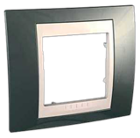 Рамка на 1 пост. Цвет Шампань/Белый. Schneider electric Unica Хамелеон. MGU6.002.824