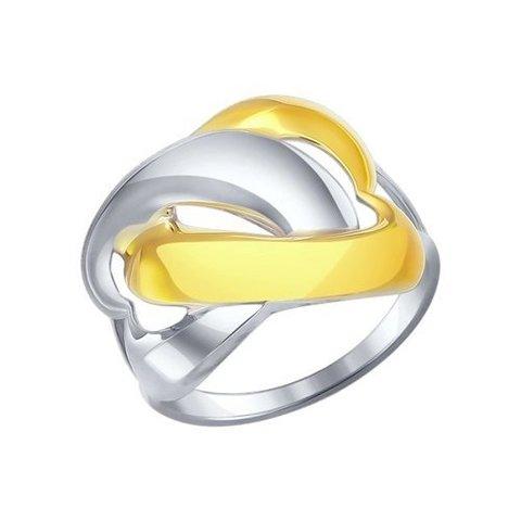94011866 - Кольцо из двухцветного серебра