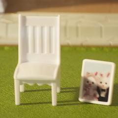 Набор белой мебели для гостиной с ТВ Happy family 012-11b
