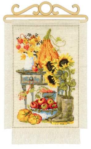 Набор для вышивания крестом «Дача. Осень» (1657)