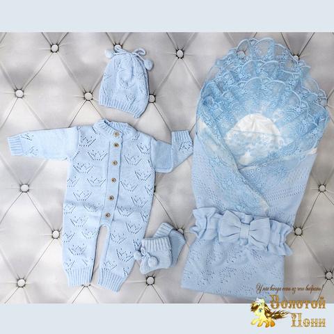 Комплект новорожденному 6 предм ЛЕТО (0-6) 210604-NV11098