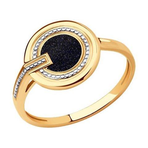 018983 - Кольцо из золота с эмалью
