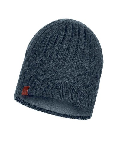 Шапка вязаная с флисом Buff Hat Knitted Polar Helle Graphite фото 1