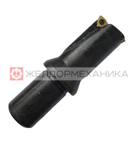 Сверло для сверления рельсов ц/х d36 мм cо сменными твердосплавными пластинами 1С/424 ТУ2.035.1143-93 под СОЖ
