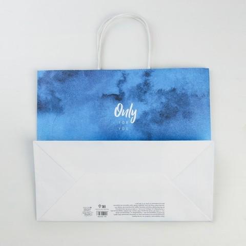 Пакет подарочный крафт Only for you, 32*28*15 см