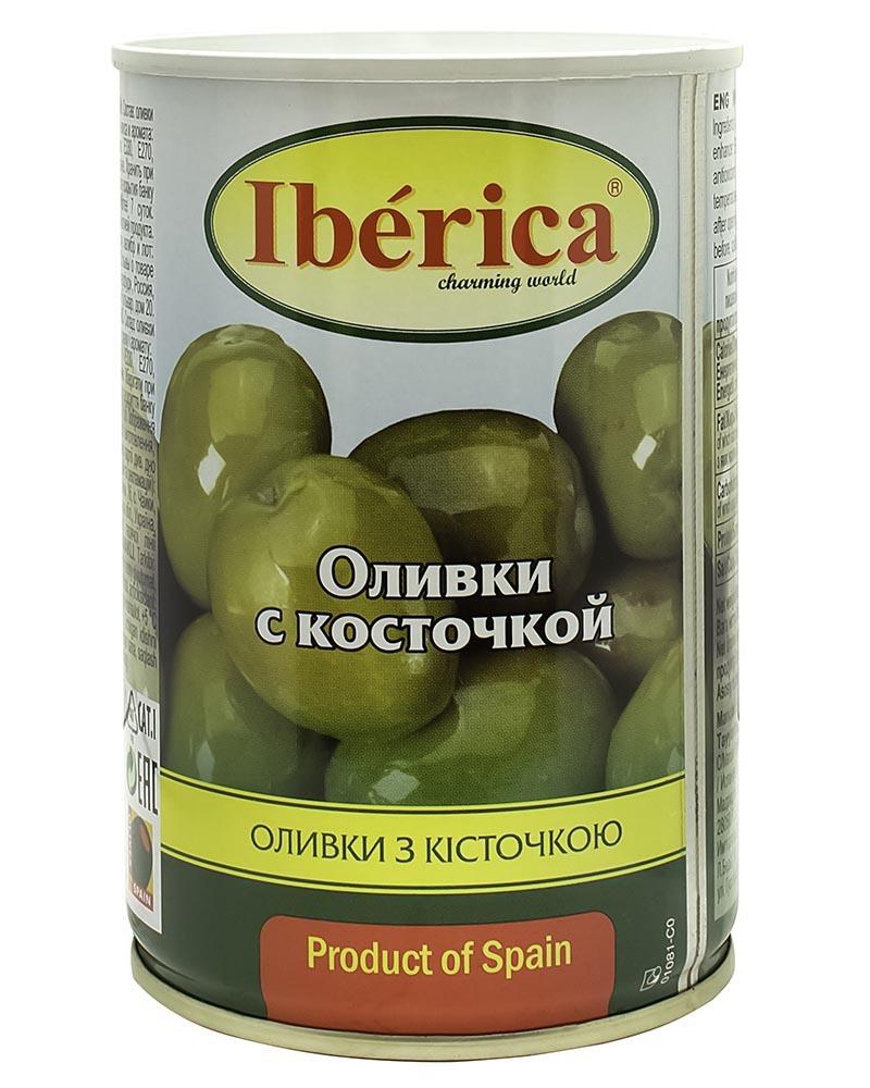 Оливки Iberica с косточкой 420 гр