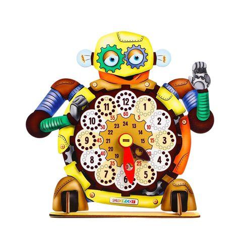 Обучающая игра часы Робот, Smile Decor П903