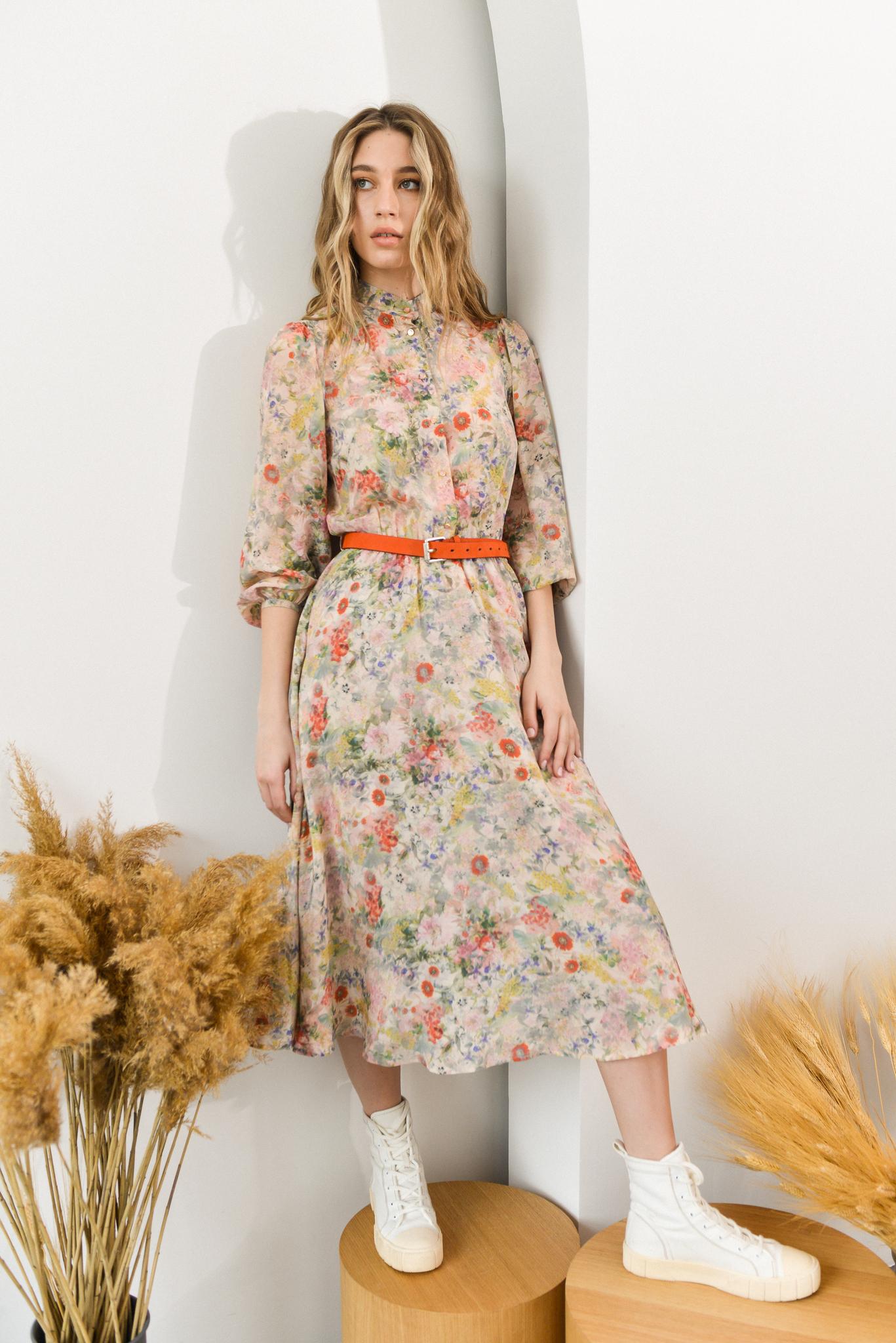 Платье из шёлка EON