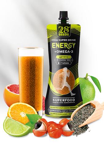 Энергетический напиток Чиа ОМЕГА-3 «Цитрус» без сахара, 250 г