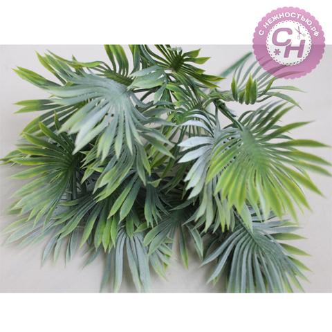 Искусственная зелень  - букет пальмы, 15 листов, 5 веток, букет 35 см.