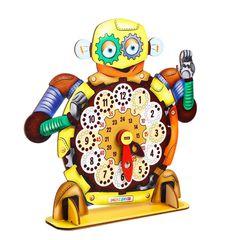 Обучающая игра часы Робот, Smile Decor
