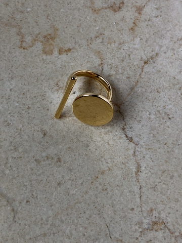 Кольцо Стонтана, позолота