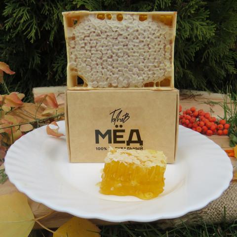 Сотовый мёд 2021 в минирамках 1 шт цветочный