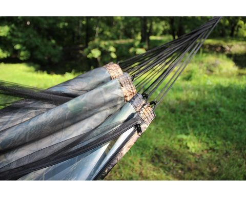 Гамак с москитной сеткой камуфляж лес с карманом под пенку