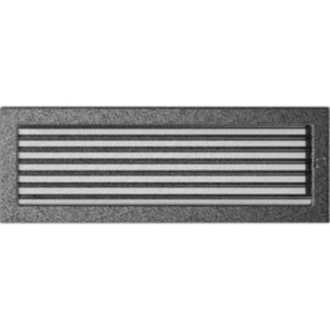 Вентиляционная решетка Черная/Серебро с задвижкой (17*49) 49CSX