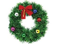 Венок Рождеств мишура подвесной 25см/G
