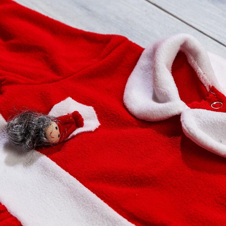 Новогоднее платье из флиса для новорожденных