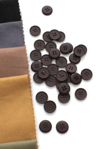 Пуговица,пластик,коричневый,15 мм