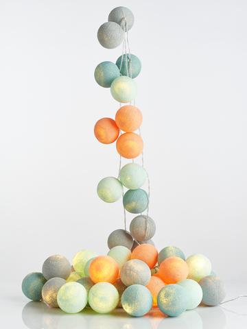 Гирлянда из хлопковых шариков Волшебство