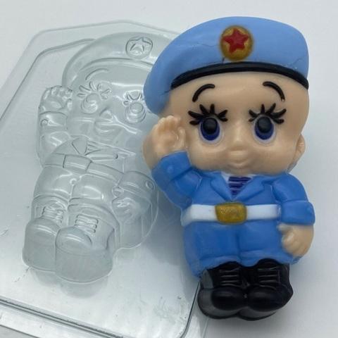 Пластиковая форма для шоколада муж. МАЛЫШ ДЕСАНТНИК 100х50мм