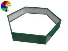 Клумба многоугольная оцинкованная 1 ярус с выбором полимерного покрытия