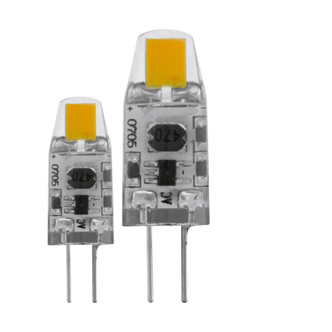 Лампа  диммируемая (комплект 2 шт.) Eglo LED LM-LED-G4 2х1,2W 100Lm 2700K  G4-LED 11551
