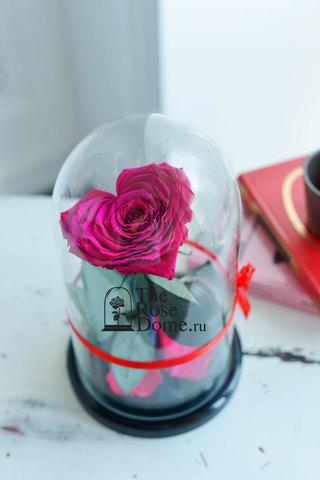 Роза Premium ХИТ Оптом Выс*Диам*Бутон (27*15*11см)Цвет Сердце,фуксия