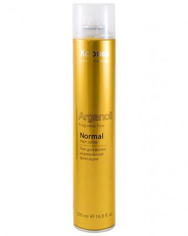 Лак аэрозольный для волос нормальной фиксации с маслом арганы, 500 мл
