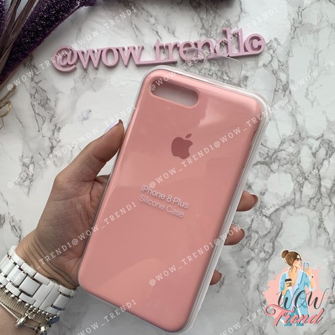 Чехол iPhone 7+/8+ Silicone Case /pink/ пудра 1:1