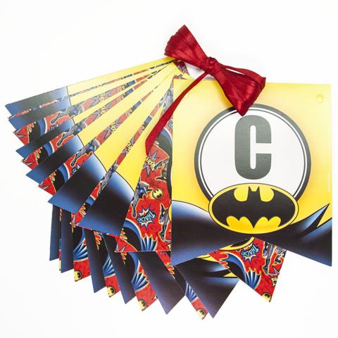 Гирлянда Флажки, С Днем Рождения! (Бэтмен), 200 см