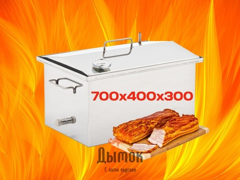 Коптильня Универсальная 700х400х300 мм с термометром.