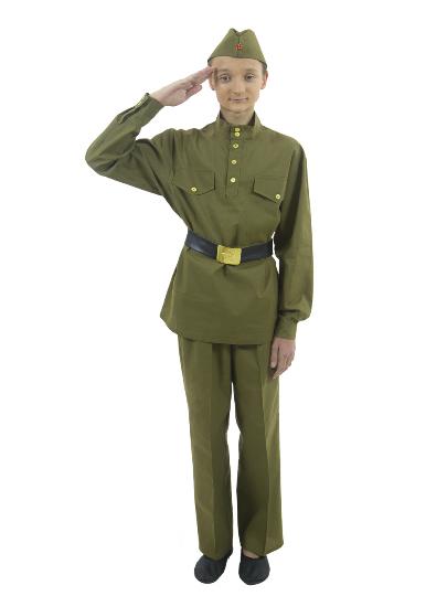 Военная форма Солдат с прямыми брюками подростковый