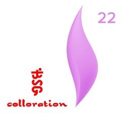 BSG Colloration, №22 Ярко-фиолетовый с мелким шимером