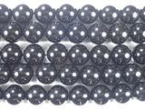 Нить бусин из кварца черного (мориона), шар гладкий 12 мм