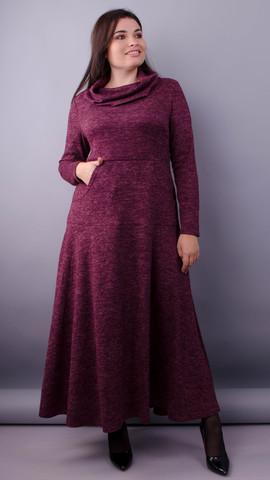 Селфі. Сукня максі для жінок плюс сайз. Бордо.