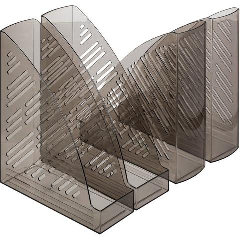 Вертикальный накопитель Attache пластиковый серый ширина 85 мм (4 штуки в упаковке)