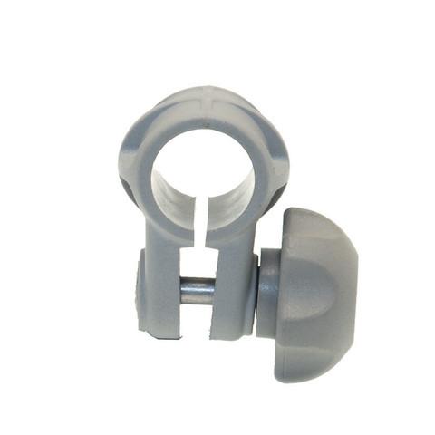 Хомут Cn022 на трубу Ø 22 мм, серый