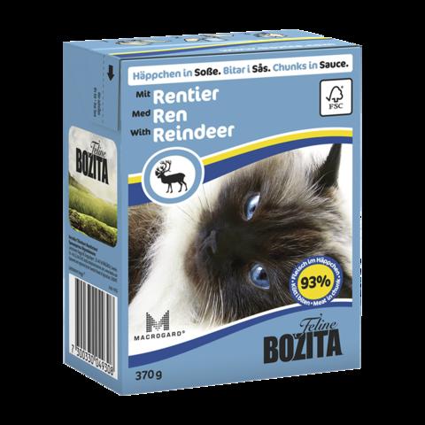 Bozita Консервы для кошек с оленем (кусочки в соусе)