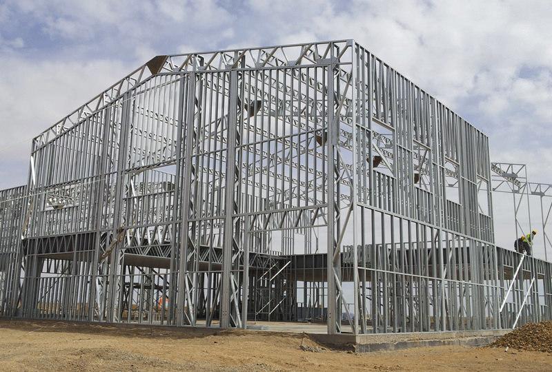 Каркас ЛСТК склада, овощехранилища, цеха.