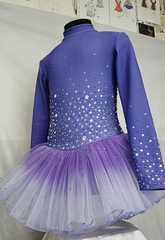 Платье для фигурного катания Флуффи Лавандовое